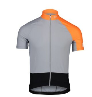 POC Essential Road Light Sykkeltrøye Granite Grey/Zink Orange, Str. S