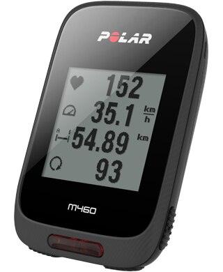 Polar M460 GPS Sykkelcomputer Sort, Bluetooth Smart, USB