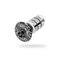 "PRO Carbon Top Cap m/expander Sort, 1-1/8"", 25 mm, For carbongafler"