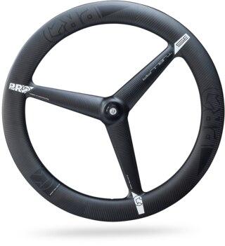 PRO 3-Spoke Pariser Framhjul Svart, kolfiber, 868g, Bred