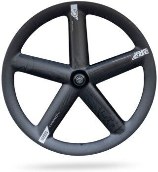 PRO 5-Spoke Track Framhjul Sort, Dura Ace 7600 Banenav, 1015 g