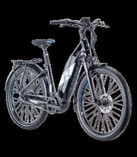 "R Raymon UrbanRay E 7.0 Elsykkel Hvit/Sort, 27.5"", Yamaha 500Wh, 50Nm"