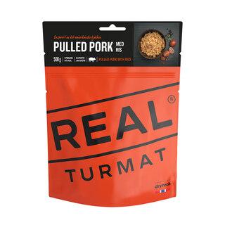 Real Turmat Pulled Pork 500g Middag Risbasert gryte med svinekjøtt