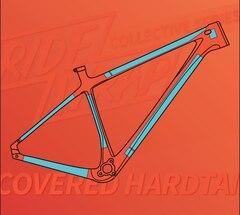RideWrap Covered Hardtail Kit Matt Transparent