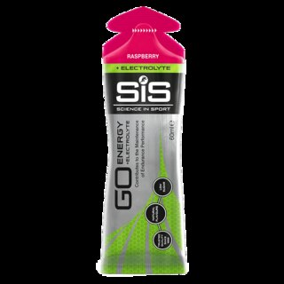 SiS GO Energy + Electrolyte Energigel Raspberry, 60 ml