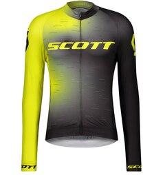 Scott RC Pro Lang Sykkeltrøye Sort/Gul, Str. L