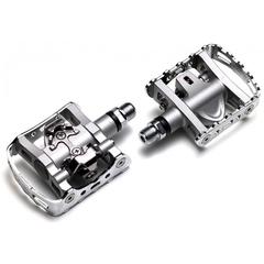 Shimano M324 Kombipedaler Sølv, SPD, 533 g