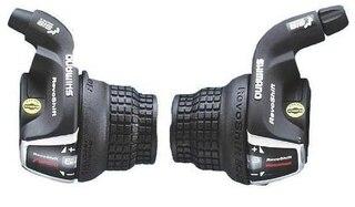 Shimano Tourney RS35 Girhendelsett Sort, 3x6-delt, Revoshift