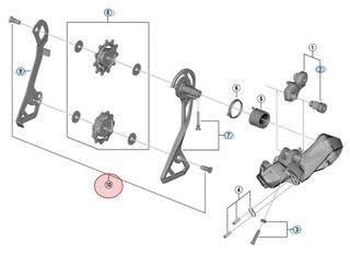 Shimano Trinsehjul Bolt R8050, RX805, RX815, RX817