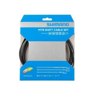 Shimano Optislick MTB Växelvajerset Svart, Komplett set