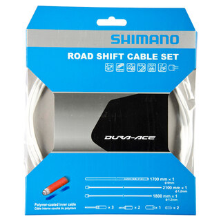 Shimano Dura Ace 9000 Växelvajerset Vit, Polymer-belagte wire