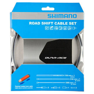 Shimano Dura Ace 9000 Växelvajerset Grå, Polymer-belagte vajer