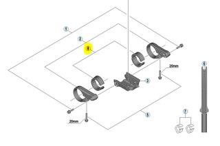 Shimano Steps SC-E6010 25 mm Adapter 2 st, 25 mm