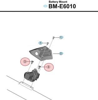 Shimano E6010 Batterifäste Bult M5, För övre rammonterade batterifäste