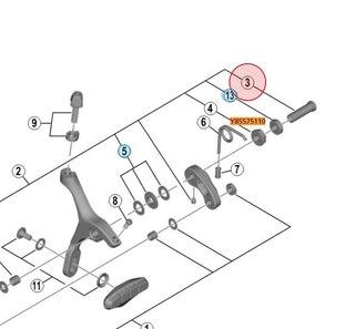 Shimano Mutter Til Racerbrems 10 mm, Frambrems