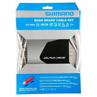 Shimano Dura Ace 9000 Bromsewiresett Vit, Polymer-belagte wirer