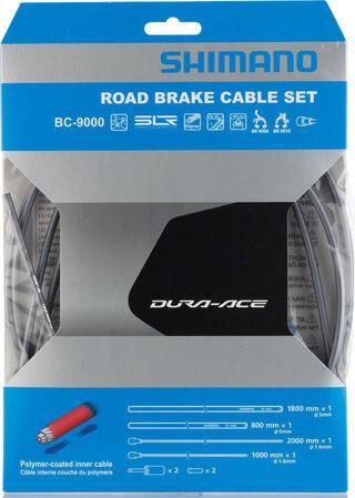 Shimano Dura Ace 9000 Bromswiresats Grå, Polymerbelagda wire
