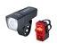 Sigma Aura 25 + Cubic Lyssett Sort, 25 LUX Frontlys og kompakt baklys!
