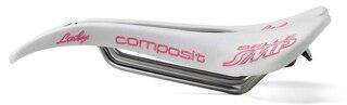 Selle SMP Composit Dam Sadel Vit, 129x263mm, stål rails, 200g