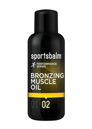 Sportsbalm Bronzing Muscle Olje Til sommerer før ritt og trening, 200ml