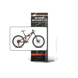 Sportscover Bikeshield Halfpack Transparent, 4 deler, beskytt sykkelen