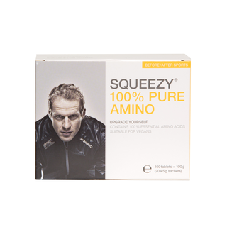 Squeezy 100% PureAmino 20 x 5 gr, 100 tabletter
