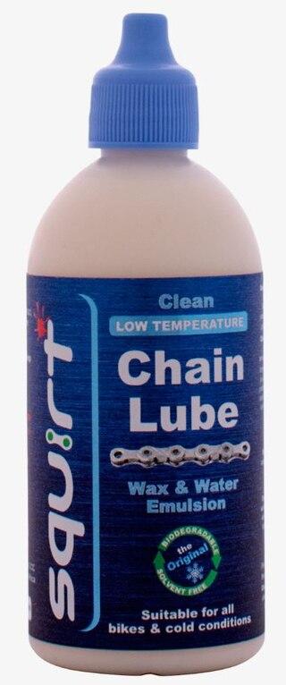 Squirt Chain Lube Low Temp Kjedeolje 120 ml, Voksbasert, Testvinner