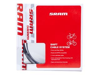 SRAM Racer og MTB Girkabelsett Sort, Racer og MTB, Stainless Steel