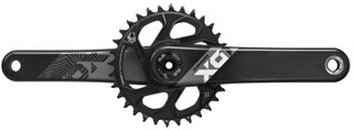 Sram X01 Eagle DUB Boost Kranksett Sort, 32T, DUB Boost, 471g.