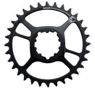 Sram Eagle Boost 3mm X-Sync2 Krankdrev Sort, 30-34T, Eagle, Boost, Stanset stål
