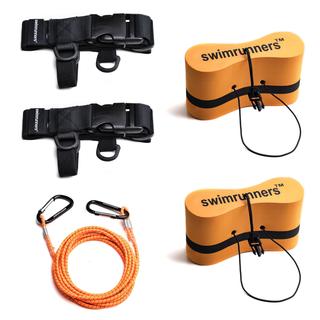 Swimrunners Support Pull Belt Teamkit Oransje Pull Buoy, Str. M+M