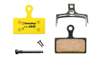 SwissStop Disc 28 RS Bremseklosser Shimano, FSA, REVER, Organisk, Stål