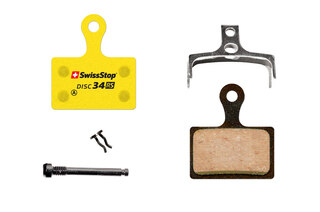 SwissStop Disc 34 RS Bremseklosser Shimano, Tektro, REVER, Organisk, Stål