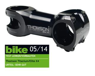 "Thomson Elite X4 10° Stem Sort, Alu, 31.8 mm,1-1/8"", 200 gram"