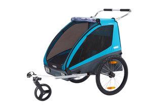 Thule Coaster XT Cykelvagn Blå, 2 eller 1 barn