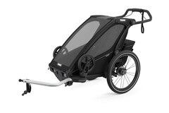 Thule Chariot Sport 1 Sykkel Barnevogn Sort, m/sykkelsett, Toppmodell