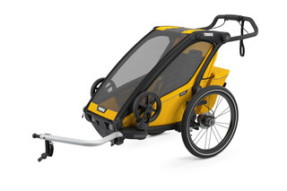 Thule Chariot Sport 1 Sykkel Barnevogn Gul, m/sykkelsett, Toppmodell