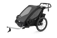 Thule Chariot Sport 2 Sykkel Barnevogn Sort, m/sykkelsett, Toppmodell