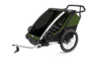 Thule Chariot Cab 2 Sykkel Barnevogn Grønn, Romslig sykkelvogn