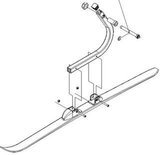 Thule Ski Assembly-LH Ski Pulk