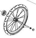 """Thule Sport Vogn 20"""" Hjul Reservehjul for Thule Sport"""