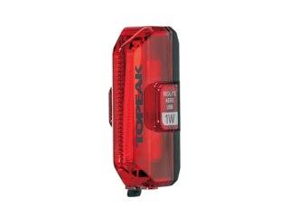 Topeak Redlite Aero USB 1W Baklys Rød, 55 lumen, 4-50 timer, 42 g