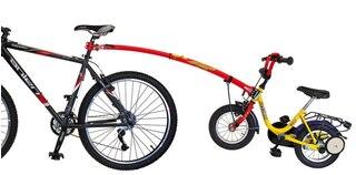 Trail -Gator Trekkestang Rød, Smart måte å trekke barnet på!