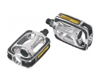VP Comp 608 Trekkingpedaler Svart/Silver, CrMo-axlar, reflexer