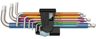 Wera 3950/9 Insexset 9 delar, rostfritt stål, plasthylsa
