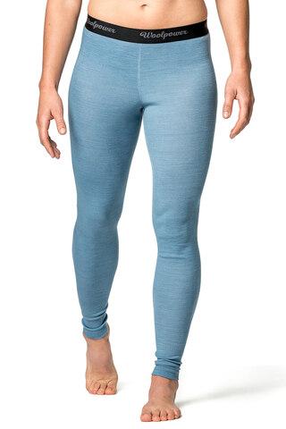 Woolpower Lite Dam Stilongs Blå, Lite serie laget i 80% merino ull
