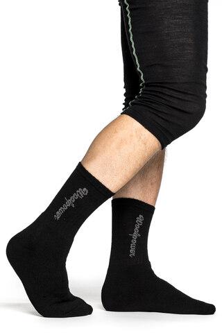 Woolpower Classic Logo 400 Sokker Varme sokker i ullfrotté