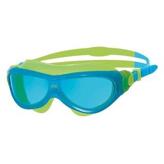Zoggs Phantom Junior Svømmemaske Blå/Grønn, Blå linser