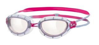 Zoggs Predator Dame Svømmebrille Transparent/Rosa, Klar linse