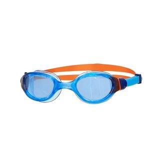 Zoggs Phantom 2.0 Junior Svømmebrille Blå/Oransje, Blå linse